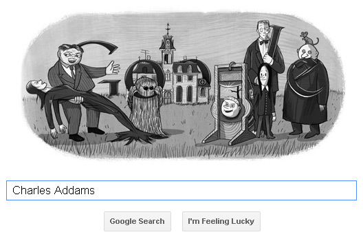 Charles Addams Doodle (06.01.2012)