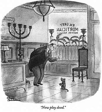 "Charles Addams: ""Now play dead"""