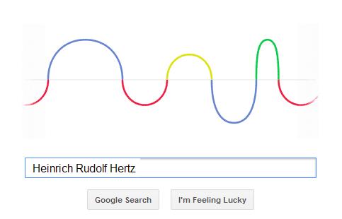 Heinrich Rudolf Hertz - Google Doodle