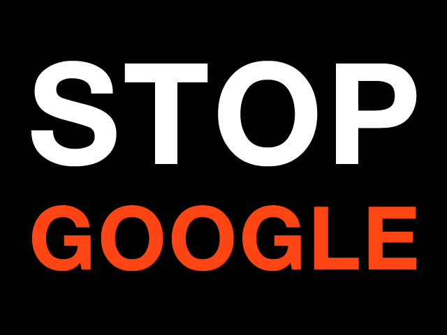 Stop Google (Copyright free :-)