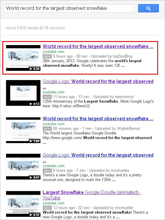 Google Canada- Videosuche