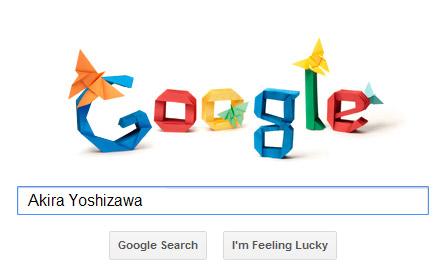 Akira Yoshizawa Origami Google doodle