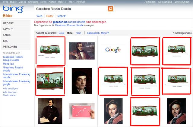 "Bing Bildersuche: ""Joachino Rossini Doodle"""