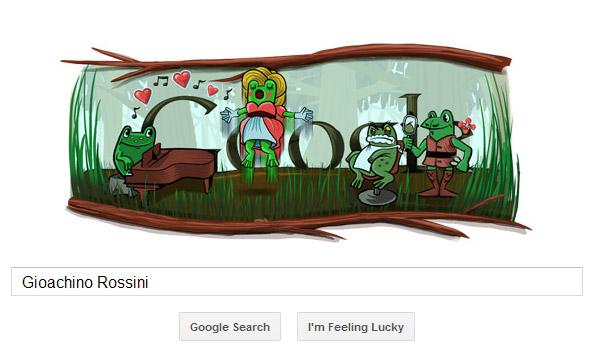 Gioachino Rossini - Frosch Oper Google Doodle