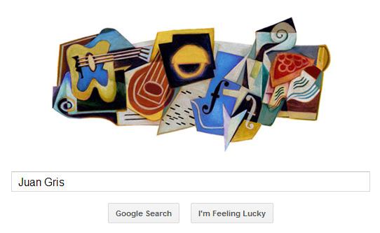 Juan Gris Google Doodle im kubistischen Stil