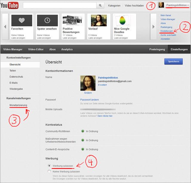 YouTube Videos monetarisieren - Schritt für Schritt