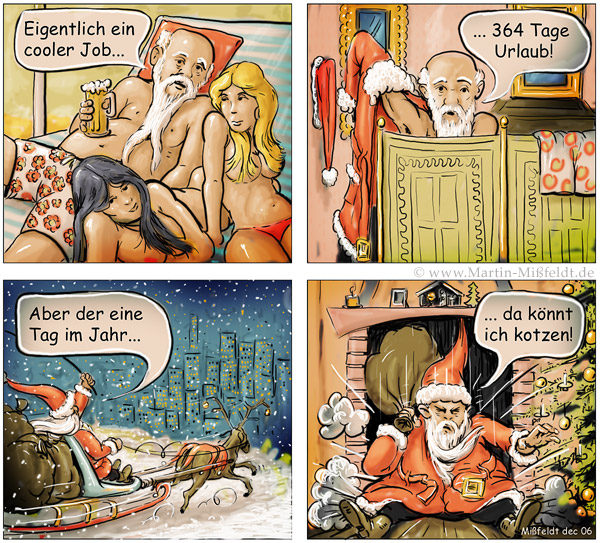 Weihnachtsmann cooler Job