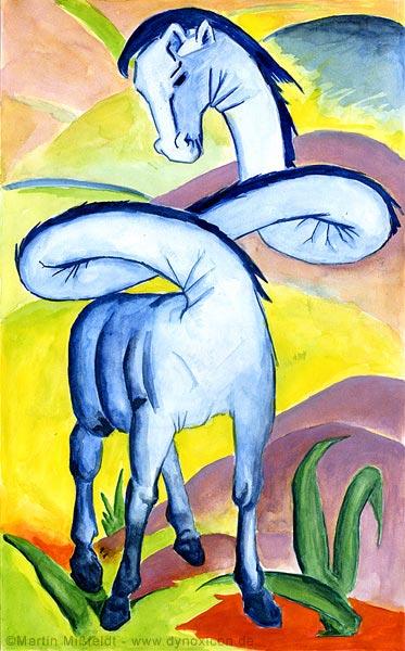 Expressionismus Cartoon: das Pferd von Franz Marc