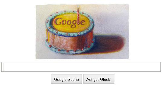 Google Doodle zum 12. Geburtstag