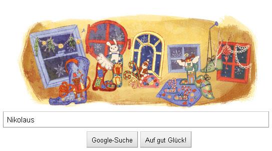 Google-Doodle Nikolaus