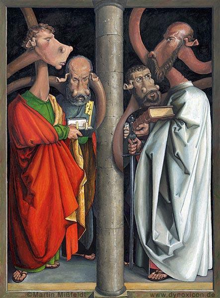 Heiligenbild-Cartoon (Religionsapostel)