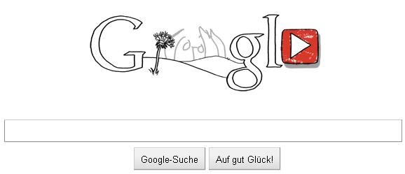 John Lennon Google Doodle - Button für ein Video