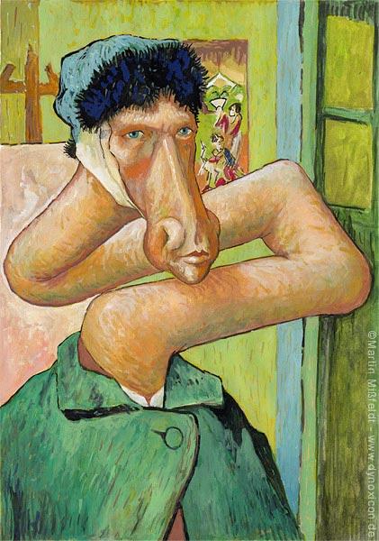 Medizin-Cartoon: Van Gogh ist krank