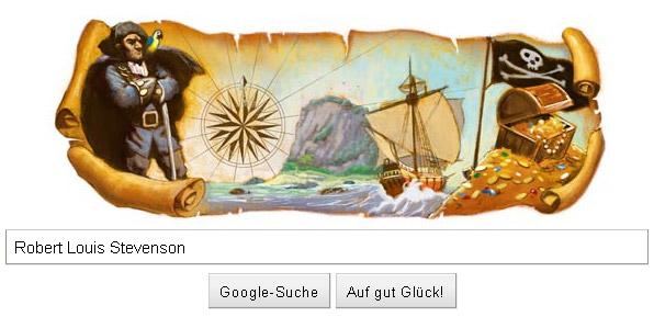 Schatzinsel-Doodle: 160. Geburtstag von Robert Loouis Stevenson