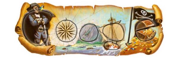 Stevensons Schatzkarte mit Google Logo