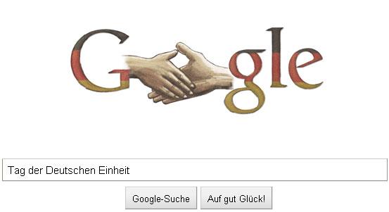 Google Doodle zum Tag der deutschen Einheit - grau und blass