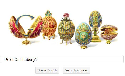 Peter Carl Fabergé Google Doodle (Fabergé Eier)