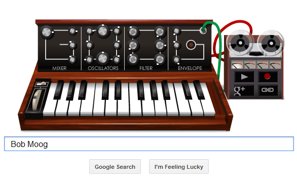 Robert Bob Moog Google Doodle