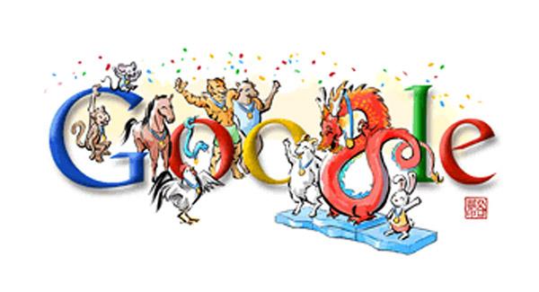 Olympia 2008 Abschlussfeier-Doodle für Moslems (ohne Hund und Schwein)