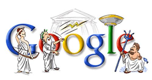 Eröffnungsfeier Athen 2004 (Google Doodle)