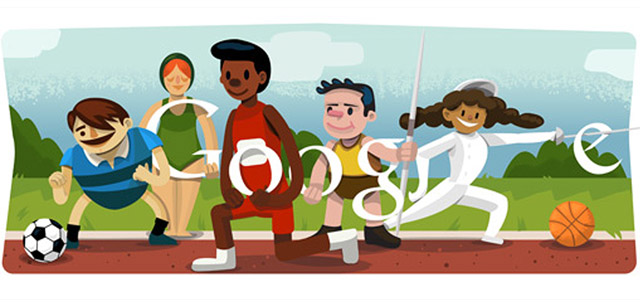 Eröffnungsfeier London 2012 (Google Doodle)