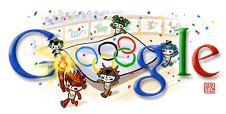 Eröffnungsfeier Peking 2008 (Google Doodle)