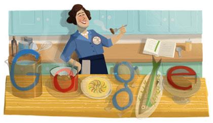 Die Google Buchstaben im Julia Child Menü