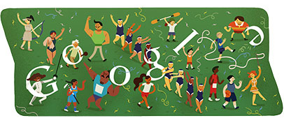 London 2012 Abschlussfeier (Google Doodle)