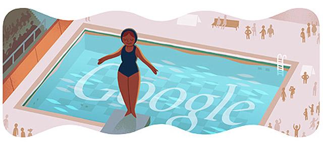 Wasserspringen vom Turm (London 2012) Google Doodle