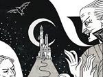 Dracula Doodle für Bram Stoker
