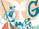 Moby Dick Doodle für Herman Melville