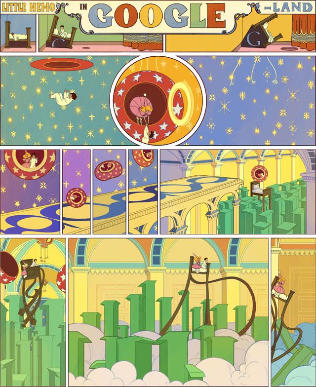 Winsor McCay Doodle (1): Little Nemo in Googleland