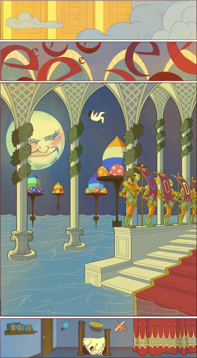 Winsor McCay Doodle (2): Little Nemo in Googleland