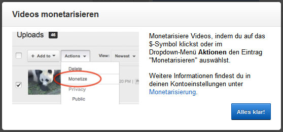 youTube Videos monetarisieren