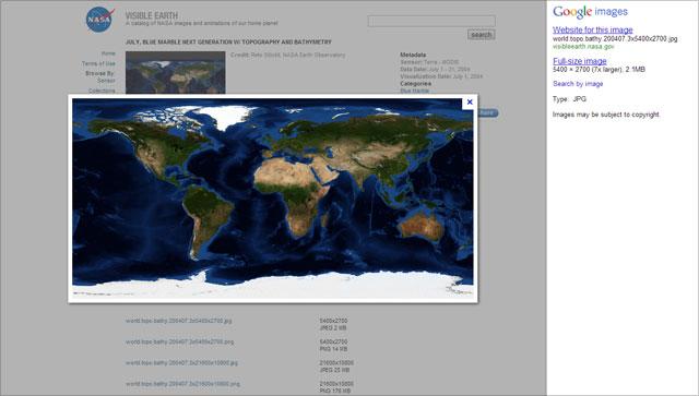 Google Bildersuche - vor dem Redesign 2013