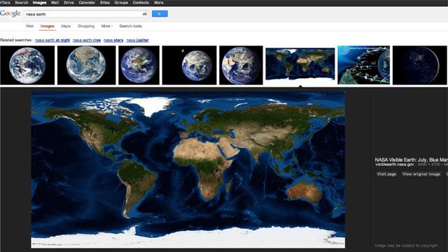 Google Bildersuche (neu) 2013: Großes Bild direkt bei Google