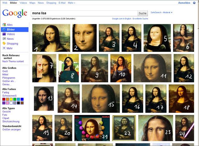 Google Bildersuche Layout seit Mai 2011