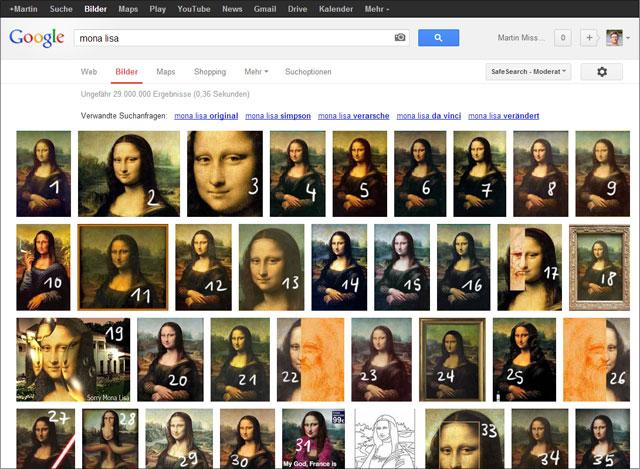 Google Bildersuche Layout 2013