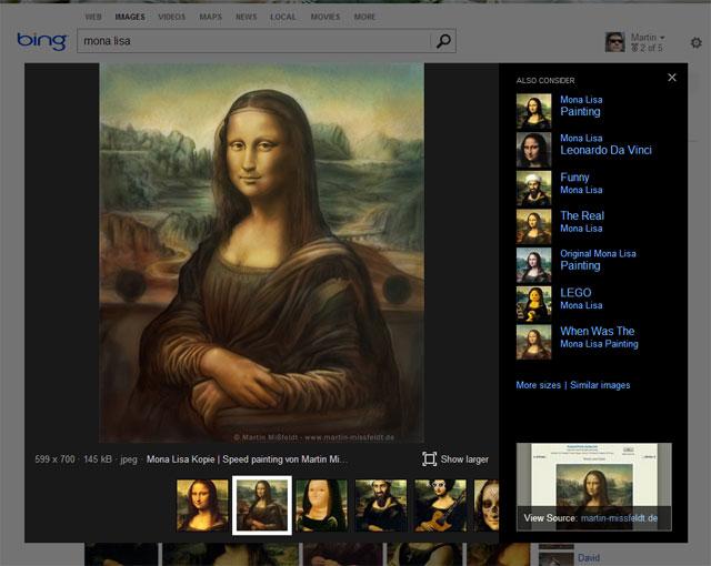 Neue Bing Bildersuche