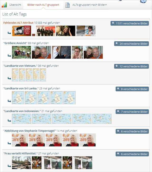 Onpage.org: Bilder mit identischen Alt-Texten