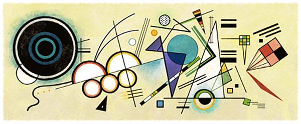 Wassily Kandinsky - Google Doodle am 4. Dezember 2012