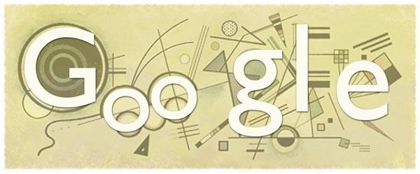 "Wassily Kandinsky Doodle - ""abstrakte"" Google Buchstaben"