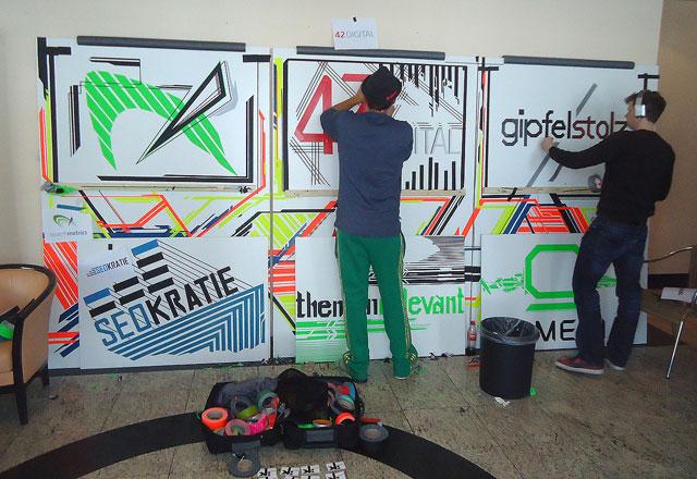 Tape-Artisten bei der Seo-Campixx 2013