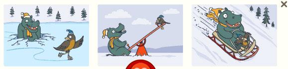 Nilpferd und Vogel (George Ferris Doodle)