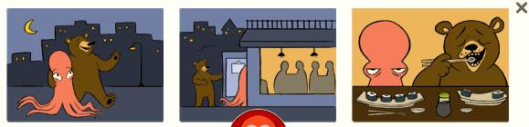 Krake und Bär (George Ferris Doodle)