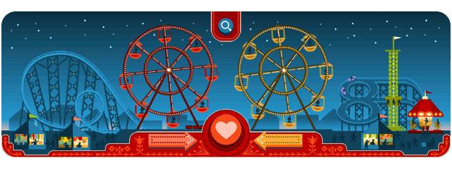 George Ferris Doodle (Valentine's Day 2013)