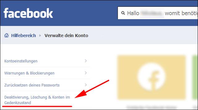Facebook: Deaktivierung, Löschung & Konten im Gedenkzustand
