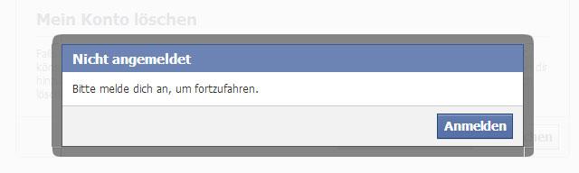 facebook: automatische Seitenaktualisierung nach dem Löschen