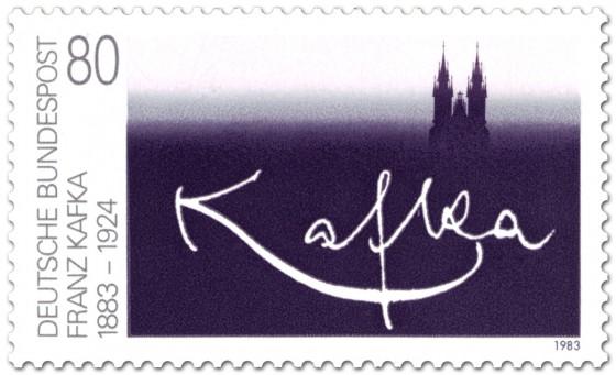Franz Kafka Briefmarke (1983) Briefmarke anlässlich 100. Geburtstag