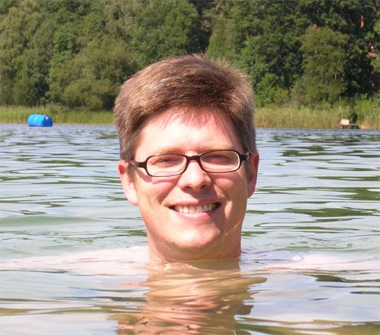 Martin Mißfeldt freut sich, dass ihm das Wasser bis zum Hals steht